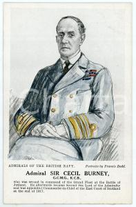 1910 ca Artist Francis DODD - Admirals of the British Navy - Sir Cecil BURNEY