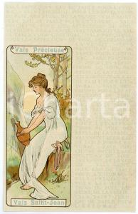 1900 ca ART NOUVEAU Eau de table Vals SAINT-JEAN Vals Précieuse (2) Postcard