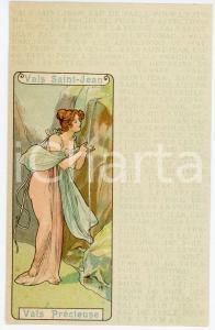 1900 ca ART NOUVEAU Eau de table Vals SAINT-JEAN Vals Précieuse (1) Postcard