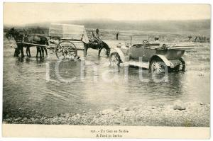 1915 ca A FORD in SERBIA - Old vintage postcard carriages car