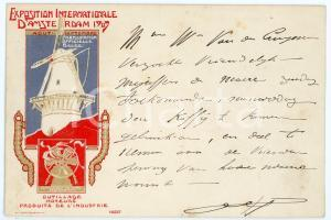 1907 AMSTERDAM Exposition Internationale - Outillage - moteurs *Carte postale