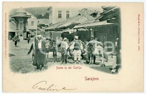 1901 SARAJEVO Partie in der Carsija - Carte postale FP VG
