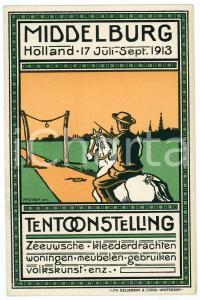 1913 MIDDELBURG (NEDERLAND) Tentoonstelling - Artist F.P.D. MUY Postcard FP NV