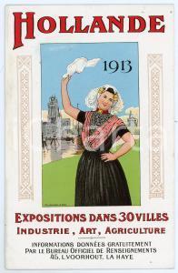 1913 HOLLANDE (NEDERLAND) Exposition dans 30 villes - Carte postale FP NV