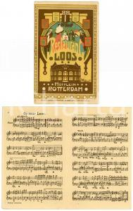 1910 ROTTERDAM - HOFPLEIN Restaurant LOOS Illustrated postcard FP NV