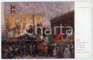 1915 Artista Giuseppe PENNASILICO - ROMA Campidoglio Terza Italia - Cartolina