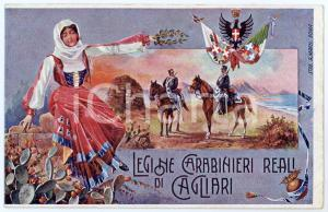 1910 ca LEGIONE CARABINIERI REALI DI CAGLIARI Cartolina illustrata FP NV