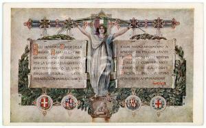 1916 WW1 - PRO MUTILATI SARDI Agli intrepidi della BRIGATA SASSARI Cartolina