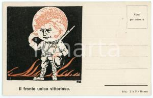 1918 WW1 - ITALIA - PROPAGANDA - Il fronte unico vittorioso *Cartolina