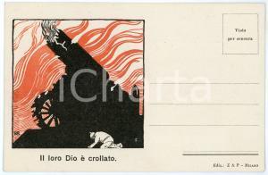 1918 WW1 - ITALIA - PROPAGANDA - Il loro Dio è crollato *Cartolina
