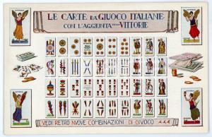 1910 ca NAPOLI Carte da giuoco italiane con Vittorie - Cartolina PIGNALOSA