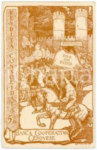 1918 WW1 BANCA COOPERATIVA GENOVESE Prestito Nazionale *Cartolina BEVILACQUA