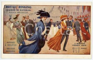 1900 ca BRUXELLES - ROYAL RINKING - Patinage à roulettes - Carte postale CPA