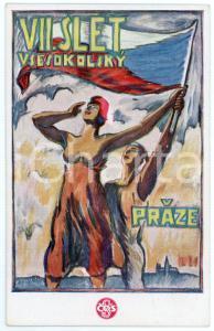 1920 PRAGUE VII Sletu Vsesokolskému - Postcard illustrated Jos. LIRA