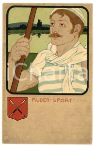 1900 ca GERMANY - DEUTSCHER SPORT - Ruder - Man - Old postcard