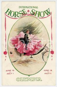 1913 LONDON OLYMPIA International Horse Show - Postcard ill. Bryce Hamilton