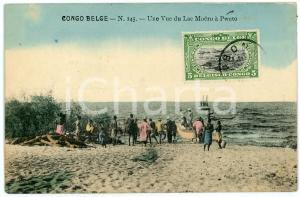 1911 CONGO BELGE Une vue du Lac Moero à PWETO Carte postale n.145 FP VG