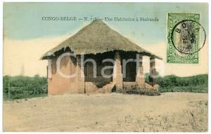 1911 CONGO BELGE Une habitation à SHABUNDA Carte postale n.138 FP VG