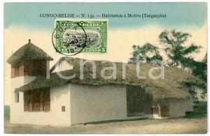 1911 CONGO BELGE - TANGANYKA Habitation à MOLIRO Carte postale n.139 FP VG