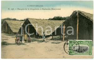 1911 CONGO BELGE - MANYEMA Hangars de la briqueterie à SHABUNDA Carte postale