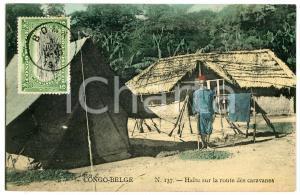 1911 CONGO BELGE Halte sur la route des caravanes - Carte postale n.137 FP VG