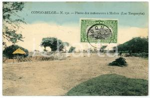 1911 CONGO BELGE Plaine des monoeuvres à MOLIRO Carte postale n.132 FP VG