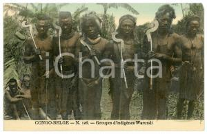 1910 ca CONGO BELGE Groupes d'indigènes WARUNDI Carte postale n.126 FP NV