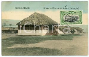 1911 CONGO BELGE - TANGANYKA Une vue de MOLIRO Carte postale n.127 FP VG