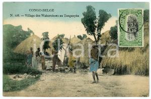1911 CONGO BELGE - TANGANYKA Village des Wahorohoro - Carte postale n.128 FP VG