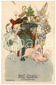 1917 CHRISTMAS - Prosit Neujahr! K.U.K II. Armee - Ill. Ernest KUTZER *Postcard