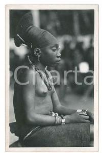 1930 ZAGOURSKI «L'Afrique qui disparaît» CONGO Mangbetu, coiffure *Postcard 54