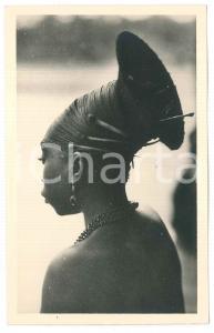 1930 ZAGOURSKI «L'Afrique qui disparaît» CONGO Mangbetu, coiffure *Postcard 55