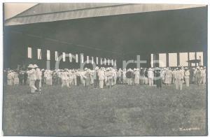 1925 ZAGOURSKI - CONGO BELGE Foule attend l'aviateur Edmond THIEFFRY - Postcard