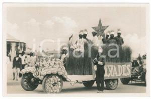 1928 C. ZAGOURSKI - CONGO BELGE Visite roi Albert Ier - Char rizerie *Postcard