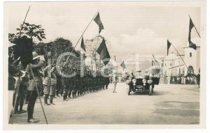 1928 C. ZAGOURSKI - CONGO BELGE Visite roi Albert Ier - Avenue Cambier *Postcard