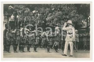 1928 ZAGOURSKI CONGO BELGE Visite roi Albert Ier - Inspection troupes *Postcard