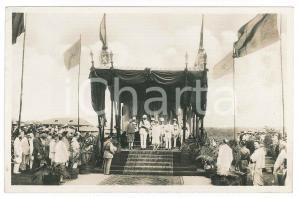 1928 C. ZAGOURSKI - CONGO BELGE Visite roi Albert Ier - Cérémonie *Postcard