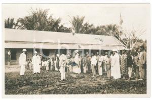1928 C. ZAGOURSKI - CONGO BELGE Visite roi Albert Ier - Ecole à KINTAMBO