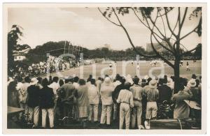 1928 C. ZAGOURSKI - CONGO BELGE Visite roi Albert Ier - Match football *Postcard