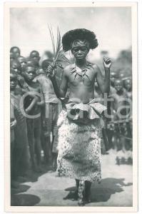 1930 ca C. ZAGOURSKI «L'Afrique qui disparaît» Danseur Bakamputu *Postcard n.33
