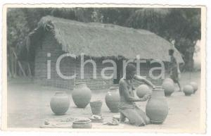 1930 ca C. ZAGOURSKI (?) CONGO BELGE Femme potier - Carte postale FP NV