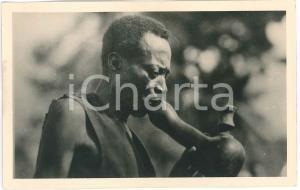 1930 ca Casimir ZAGOURSKI - CONGO BELGE Homme boit d'une citrouille - Postcard