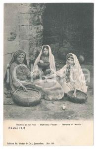 1900 ca RAMALLAH - PALESTINE Women at the mill - Postcard FP NV