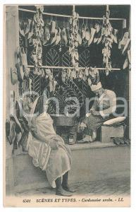 1910 ca TUNISIE (?) Scènes et types - Cordonnier arabe - Carte postale FP NV