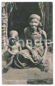 1929 SOUTH AFRICA Child and old woman - Hundred weeks, hundred yeard - Postcard