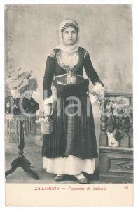 1900 ca SALAMINE - GRÈCE Paysanne de Salamis - Carte postale FP NV