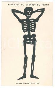 1920 ca PARIS Cabaret du NÉANT Skeleton DANSE MACABRE ILLUSTRATED Light Postcard