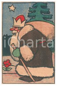 1910 ca CHRISTMAS Santa Claus ILLUSTRATED Postcard FP NV