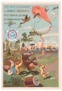 1883 VANDER SMISSEN FRERES Mercerie - Kids with kite ILLUSTRATED Calendar