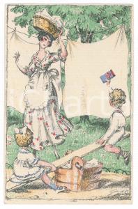 1910 ca DEUTSCHLAND Detergent ASTA -  ILLUSTRATED promo postcard FP NV